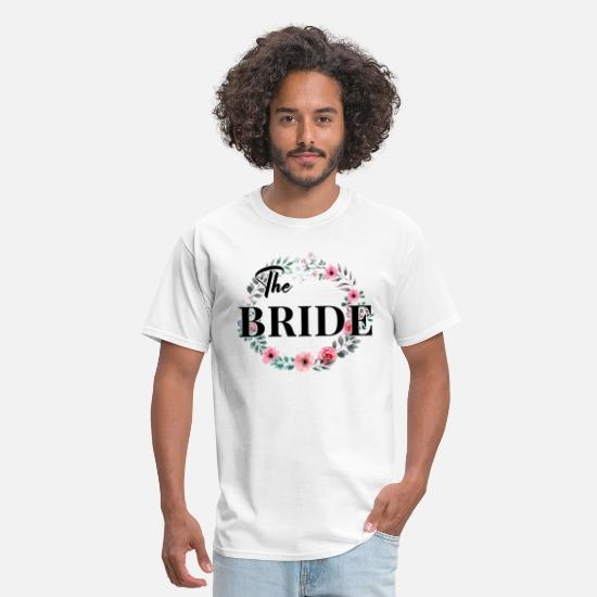 Bride T-Shirts - The bride bridal shower bachelorette party wedding - Men's T-Shirt white