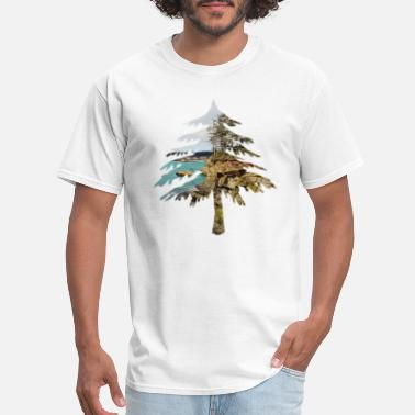 Oregon Oregon Coast Tree Print - Men's T-Shirt