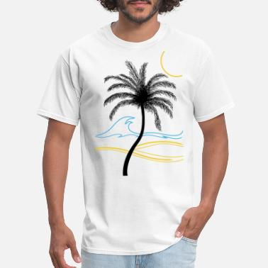 Caribbean palm - Men's T-Shirt