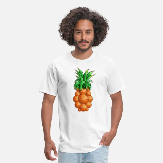 Cool T-Shirts - Basketball Pineapple - Men's T-Shirt white