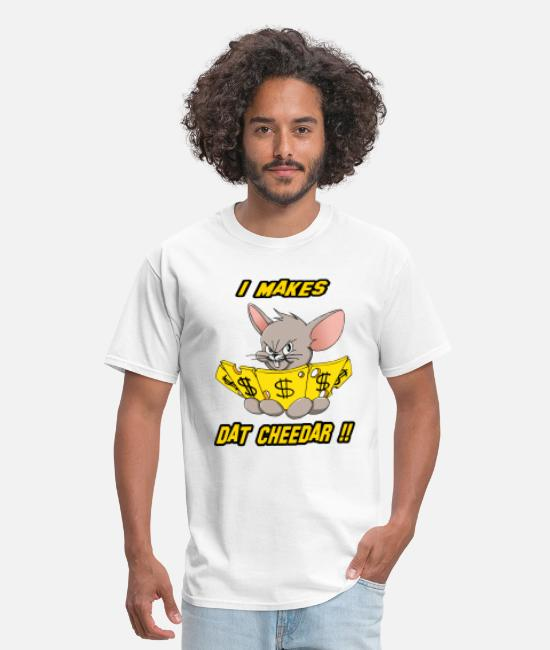 Cash Money T-Shirts - Mouse Cheese Money 2 - Men's T-Shirt white