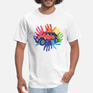 Titty colorful Jeep - Men's T-Shirt