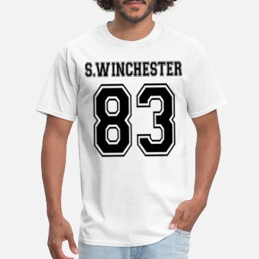 Sam Sam Winchester Supernatural Short Sleeve White Gra - Men's T-Shirt