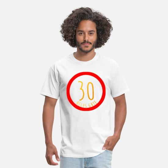 Congratulations T-Shirts - Happy 30th Birthday Sign Congratulations - Men's T-Shirt white