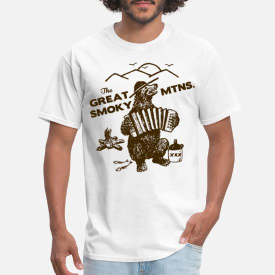 9a3d81b79 The Great Smoky Mountains Smokey Bluegrass Bear Hi Men's T-Shirt ...