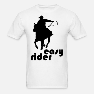 Easy Rider Cowboy Graphic Racecourse Racing Horse Rider Men t-shirt