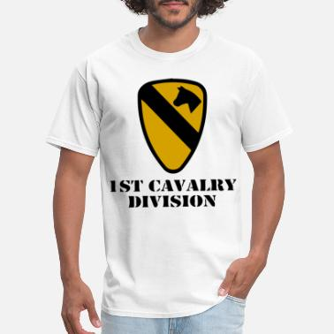 Backpacker Army US Army 1st Cavalry Division Veteran Full Color am - Men's T-Shirt