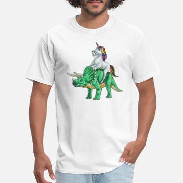 Unicorn To The Rave Unicorn and Tricerotops - Men's T-Shirt