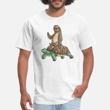 Sloth Tortoise and Sloth - Men's T-Shirt