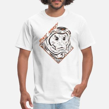 Orange Monkey Space Monkey (Orange) - Men's T-Shirt