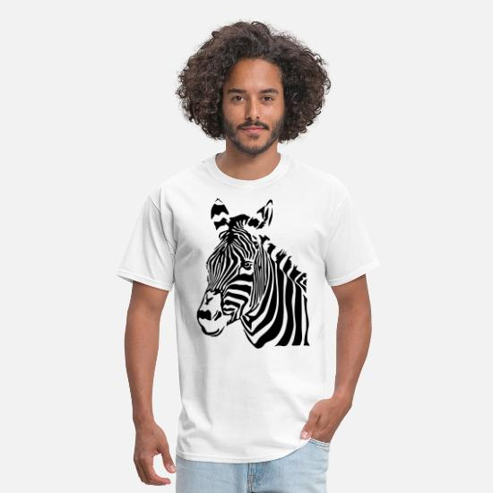 Zebra T-Shirts - zebra - Men's T-Shirt white