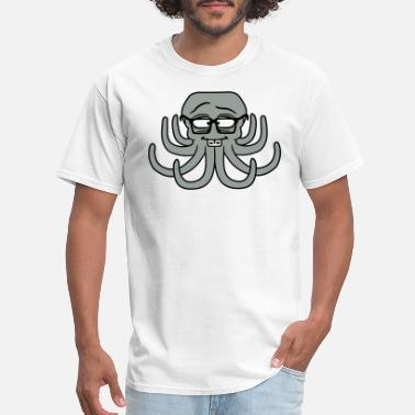Braces Funny nerd sly smart geek horn goggles braces octopus oc - Men's T-Shirt