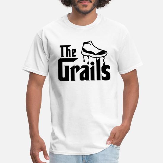 6324e44cd86 Front. Front. Back. Back. Design. Front. Front. Back. Design. Front. Front.  Back. Back. Jordan T-Shirts - the grails jordan 11 graphics - Men's T-Shirt  ...
