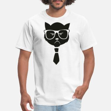Hipster Funny GRUMPY HIPSTER CAT FUNNY - Men's T-Shirt
