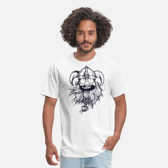 Crazy T-Shirts - crazy viking - Men's T-Shirt white