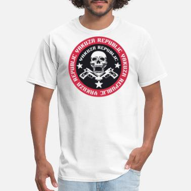 Yakuza YAKUZA Republic SKULL GUNS BWR - Men's T-Shirt