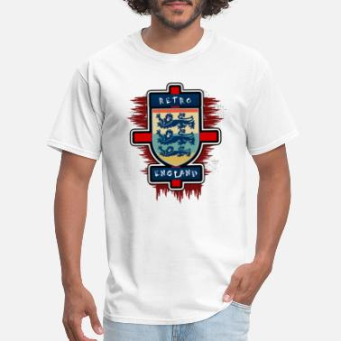 Flag Retro England Lions Cross Tee Shirt - Men's T-Shirt
