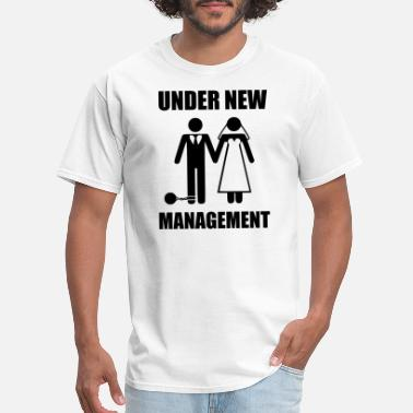 UNDER NEW MANAGEMENT JUST MARRIED Funny t shirt printed humour gift men women