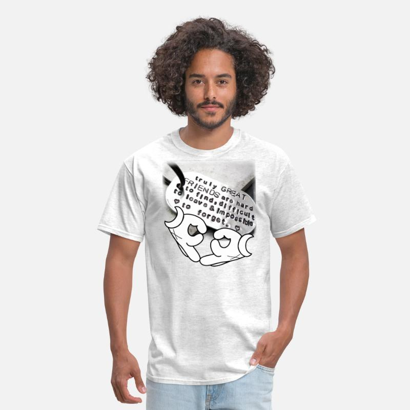 Best Friends Tee Quotes Men\'s T-Shirt - light heather grey