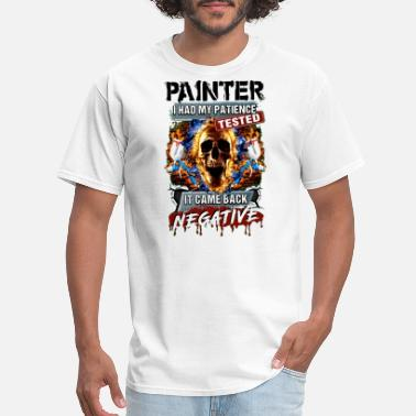 Polynesian painter i had my patience tested it came back nega - Men's T-Shirt