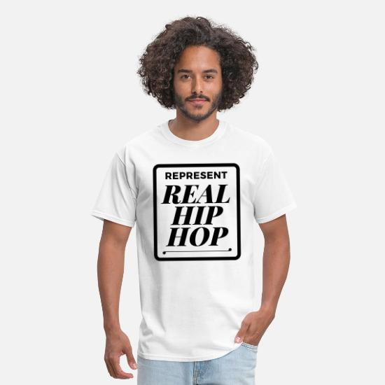 America T-Shirts - real_hiphop - Men's T-Shirt white