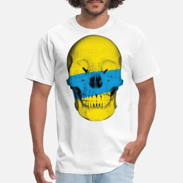 Skull Painted Painted Skull - Men's T-Shirt