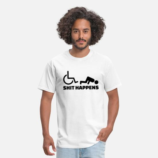 Rugby T-Shirts - Wheelchair - Men's T-Shirt white