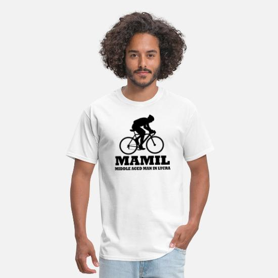Mamil T-Shirts - MAMIL Middle Aged Man In Lycra - Men's T-Shirt white