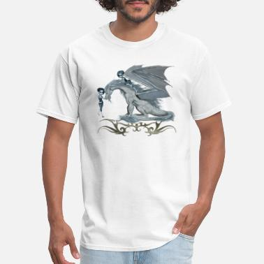 Ice Dragon Awesome ice dragon with fairys - Men's T-Shirt