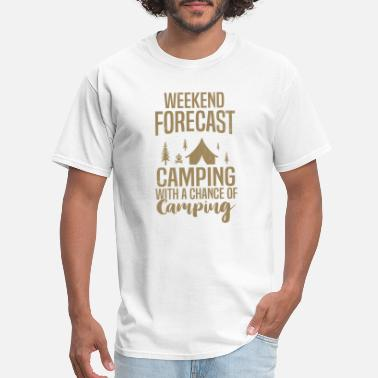 Forecast camping weekend forecast camp - Men's T-Shirt
