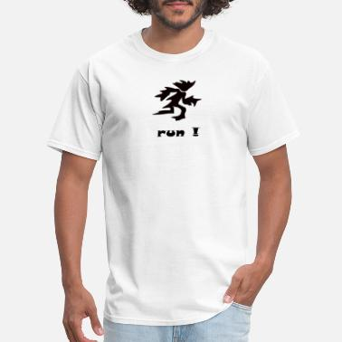 Man With A Plan run running man escape plan fire and ice - Men's T-Shirt