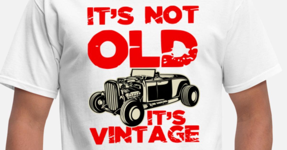 Hot Road Gasoline Car Mens PRINTED T-SHIRT Racer Classic Vintage Speedy