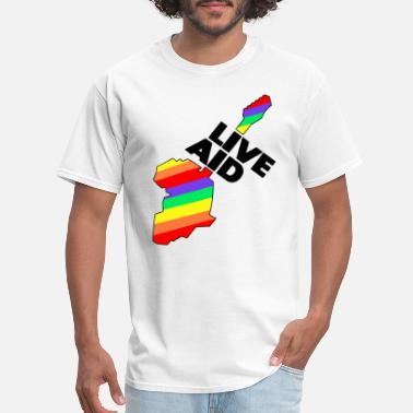 Aid Live Aid Band Aid 1985 Symbol - Men's T-Shirt
