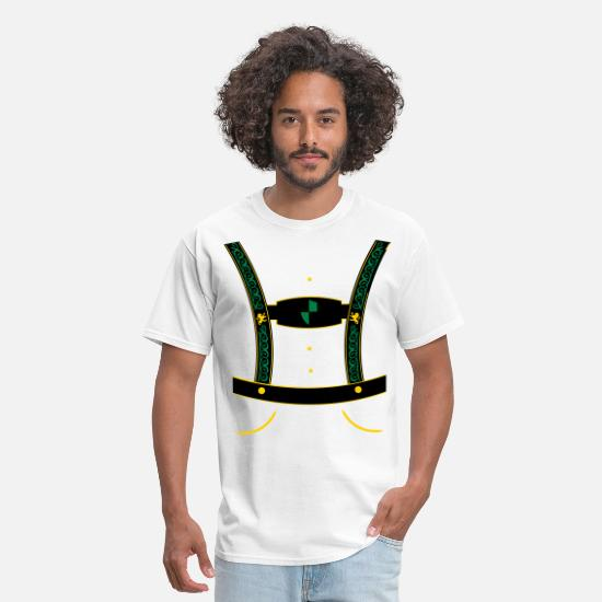Oktoberfest T-Shirts - leather trousers - Men's T-Shirt white