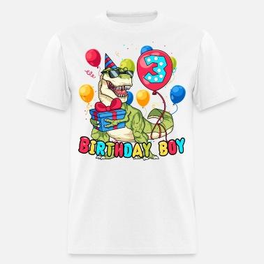 3 Year Old Birthday Big Dinosaur Mens T Shirt
