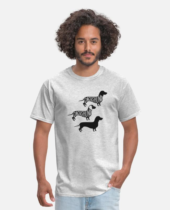 Dachshund T-Shirts - dachshund - Men's T-Shirt heather gray
