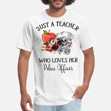 Breast Brutal just a teacher who loves her police officer police - Men's T-Shirt