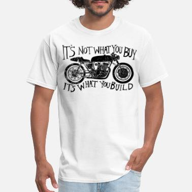 I s Not What You Buy Bike Motorcycle Retro Distres - Men's T-Shirt