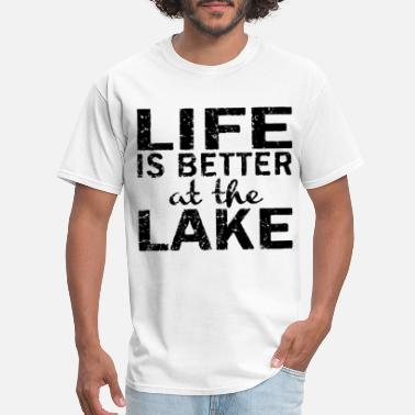 Black Life is Better at the Lake Women s Camping H - Men's T-Shirt