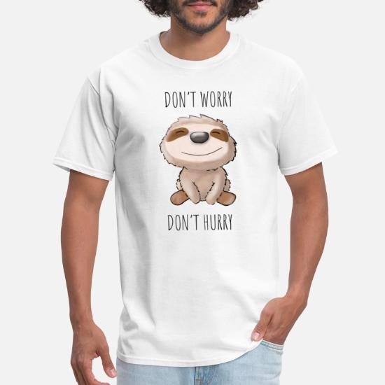Sloth Dont Worry No Hurry Cute Baby Toddler T Shirt