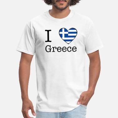 I Love Greece Love I love Greece - Men's T-Shirt