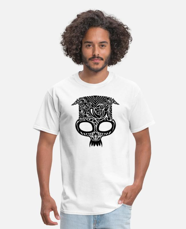 Shop T-Shirts - Tribal Skull - Men's T-Shirt white
