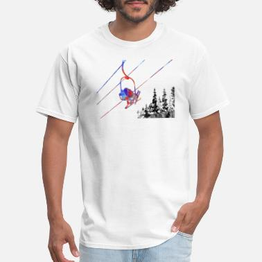 Ski Couple Couple ski lift, couple, ski sport, ski, skiing - Men's T-Shirt
