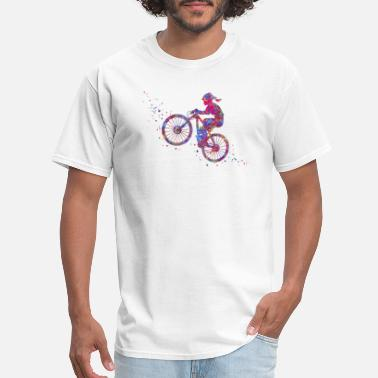Mountain Biking Art Mountain biking, mountain bike, sport - Men's T-Shirt