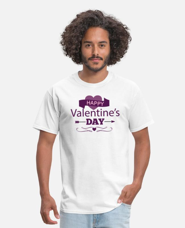 Heart T-Shirts - Happy Valentine's Day - Romantic - Men's T-Shirt white