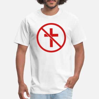 God Is Love zone forbidden sign sign symbol no cross god belie - Men's T-Shirt