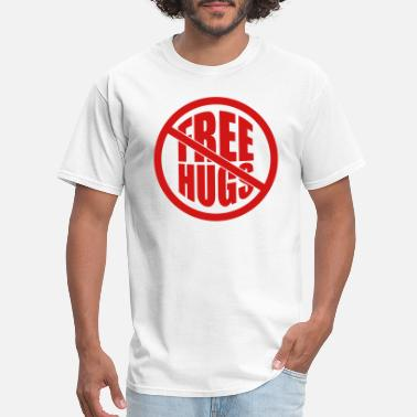 Free Free Hugs note affixed note paper free hugs free hugs funny - Men's T-Shirt