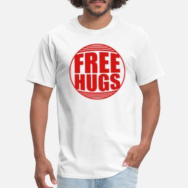 Warning shield caution caution zone warning free hugs free - Men's T-Shirt