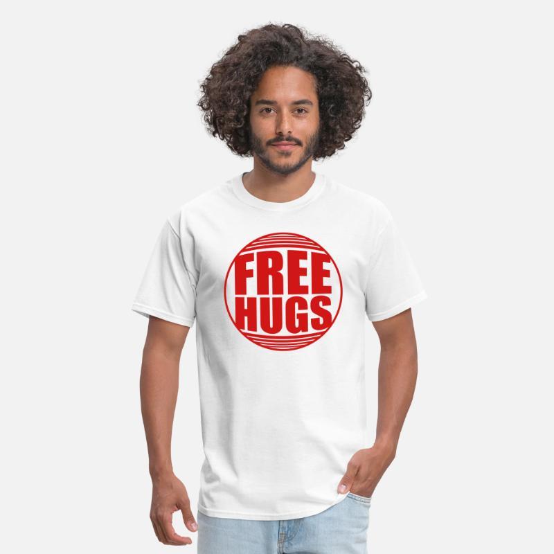 c624c165 Free Hugs T-Shirts - shield caution caution zone warning free hugs free -  Men's
