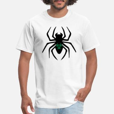 Toxic Sign biohazard toxic biological symbol sign virus spide - Men's T-Shirt